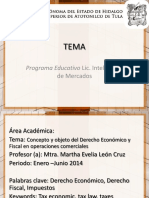 Concepto y Objeto Del Derecho Economico y Fiscal en Operaciones Comerciales