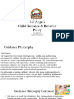 child guidance   behavior policy