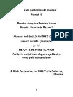 Contexto Histórico en El Que Surge México Como País Independiente