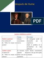 Kant Después de Hume