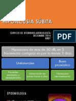 Diciembre 2014 Hipoacusia Subita