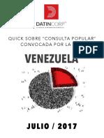 11 millones de venezolanos apoyan consulta popular