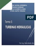 Tema 5 - Turbinas Hidráulicas