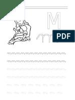 consonante m-caligrafia