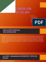 Resumen decreto 170. Chile 2017