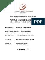 GERENCIA EMPRESARIAL - ActividadNª 10 Informe de Trabajo Colaborativo de La II Unidad