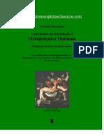 Ernesto Bozzano - Metapsiquica Humana