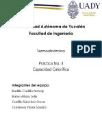 Termodinámica - Practica 3 - capacidad calorífica