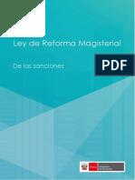 Ley de Reforma Magisterial y Su Reglamento Parte Sanción