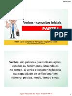Classes Gramaticais III - Verbos