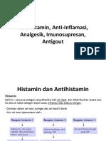 PB. XII. Antihistamin, Anti-Inflamasi, Analgesik, Imunosupresan,