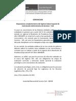 c.a.s. Com. 001-2011servir Disposiciones Complementarias Reg. Lab. Cas