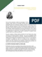 Aportes de Wilhelm Wundt a La Psicologia