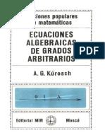 Ecuaciones Algebraicas de Grados Arbitrarios.Ed MIR