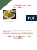 Platos Tipicos de La Costa Del