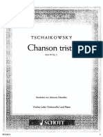 Tchaikovsky Chanson Triste Viola Piano