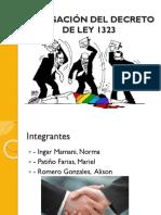 Decreto 1323 105 Opinion