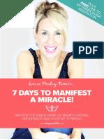 7 Day Miracle Manifestor V1