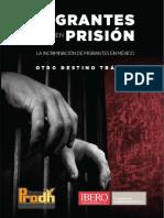 Sesión 7. Migrantes en Prisión. La Incriminación de Migrantes en México, Otro Destino Trágico. Centro Prodh