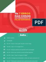 eBook Os 7 Erros Mais Comuns Dos Brasileiros Ao Falar Espanhol Drieli Sonaglio Espanhol de Verdade Edicao 3