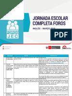 Foro Inglés - Marzo 2016