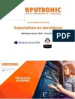 Brochure Especialista en Servidores