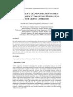 INTELLIGENT TRANSPORTATION SYSTEM BASED TRAFFIC CONGESTION MODELLING FOR URBAN CORRIDOR