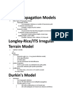 Propagation Models PHD