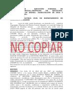 Demanda de Ejecucicon Forzosa de Tituloextrajudicial Despacho de Ejecucion Averiguacion De