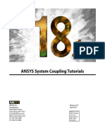 ANSYS System Coupling Tutorials 181