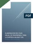Plan Anual de Ergonomia