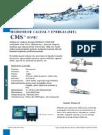 CMS SONIC - Medidor de Energia BTU y Caudal Vf1