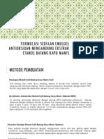 Formulasi Sediaan Emulgel Antioksidan Mengandung Ekstrak Etanol Batang