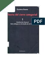Gustavo Bueno - Teoría Del Cierre Categorial 1