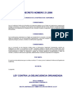 Ley Contra La Delincuencia Organizada de Guatemala DECRETO DEL CONGRESO 21-2006