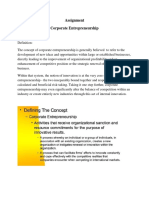 Assignment  Entrepreneurship Management