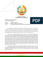Position Paper of the Republic Tajikistan
