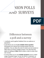 Opinion Poll and Survey
