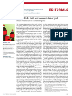 Sugary Drinks, Fruit, And Increased Risk of Gout