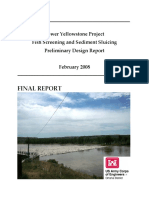 Lower Yellowstone Project Fish Screening and Sediment Sluicing Preliminary Design Report Feb 2008