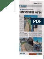 Le Dauphiné Libéré - Sécurisation des berges Tain l'Hermitage