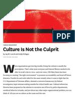 Culture is Not the Culprit
