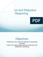 Inductive Deductive Reasoning