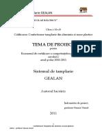 Sistemul de Tamplarie Gealan Proiect