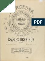 Oberthur-Berceuse, Pour Harpe e Violon Op.299