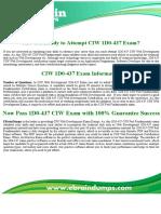 1D0-437 Dumps | CIW Web Development 1D0-437 Exam