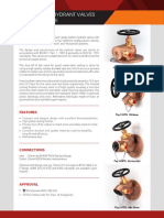 Ecatn Globe Pattern Flange Inlet Hydrant Valve Data Sheet