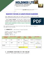 Manifest for Rough Diamond 900.12-4