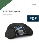 Snom Meetingpoint Conference Phone Datasheet