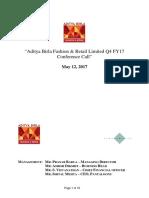 Q4FY17 - Earnings Call Transcipt.pdf